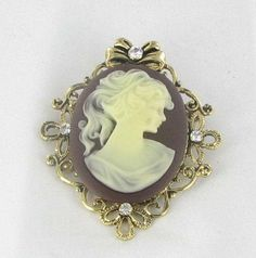 It seems they are a series of cameo jewelry,which will be much more valuable if the whole selection has been brought. Description from collectingvintagejewelry.blogspot.com. I searched for this on bing.com/images