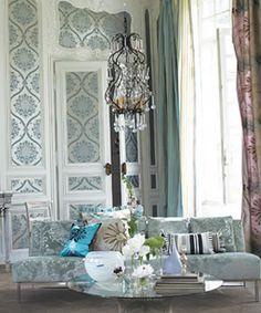 Grand interior in blue