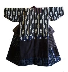 Sri | A Marvelous Reversible Boro Kimono: Bold Patching