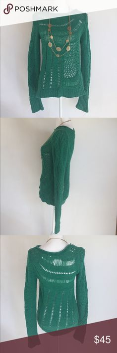 Anthropologie Moth Green Knit Sweater, S This super cute Anthropologie Moth Green Knit Sweater, S is great for those cooler fall days right around the corner! EXCELLENT CONDITION, NO DEFECTS, COMES FROM A SMOKE FREE HOME. Anthropologie Sweaters