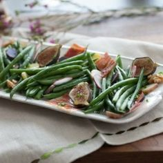 The crunchy green beans, sweet figs, sliced radishes and savory Iberian Ham, dressed w/Sherry Vinaigrette, is perfection!