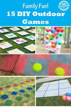 15 Outdoor Games that are Fun for the Whole Family! - Things you can make with stuff you already have!