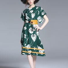 IMPACT PRINTING FOREST GREEN MIDI DRESS  Old: $86.63 Now: $51.76