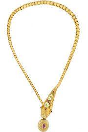 1860s 18-karat gold multi-stone necklace