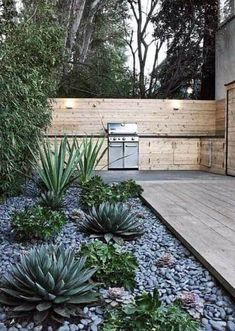 River Rock Landscaping, Succulent Landscaping, Landscaping With Rocks, Small Backyard Gardens, Small Backyard Landscaping, Landscaping Ideas, Courtyard Landscaping, Backyard Ideas, Backyard Patio