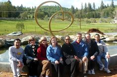 Dr. Terri Kennedy with Yoga Alliance Board members at the Ananda Village ashram right outside of Nevada City in California.