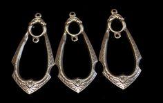 Set of 3 vintage brass filigree drops by themetalworx on Etsy, $1.50