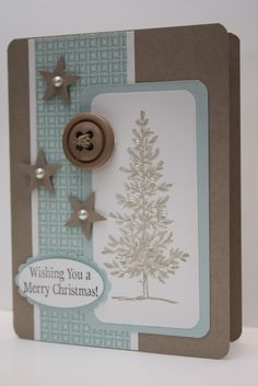 lovely as a tree stampin up cards | ... though i d pop in with a quick christmas card featuring a bit of an