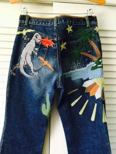 Radical Embroidered See by CHLOÉ Bell Bottom Jeans : 29 by ShopKingDude on Etsy https://www.etsy.com/listing/262631057/radical-embroidered-see-by-chloe-bell