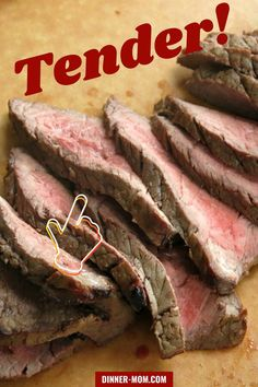 For tender and juicy London Broil try this amazing marinade. Perfect for the grill or oven! #londonbroil #marinade