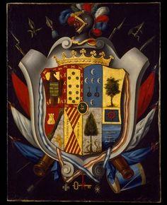 Coat of Arms of the Gómez de Cervantes y Altamirano de Velasco Family