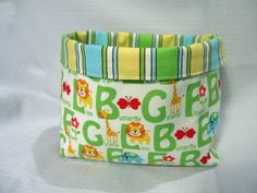 Tutorial showing how to make a fabric basket ~ Threading My Way