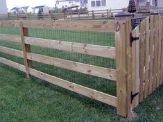 dog fence/horse pen - this would be great to fence in the half acre behind the h. dog fence/horse pen – this would be great to fence in the half acre behind the house. Pasture Fencing, Horse Fencing, Farm Fence, Diy Fence, Garden Fencing, Backyard Fences, Fenced In Yard, Goat Fence, Fence Landscaping