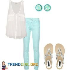 THE PERFECT COMBINATION OF SEA GREEN AND WHITE Nothing is more royal and striking than the combination of sweet sea green and exotic white. Feel like a goddess in the sea green jeans pant and the white color long top that perfectly matched with the color sea green. Pair it up with a gorgeous sea green color cool ear studs, with gold and a golden and silver designer sandals that has been designed for stylish women. Your look can never be complete without a sweet air of fragrance. Try out this…