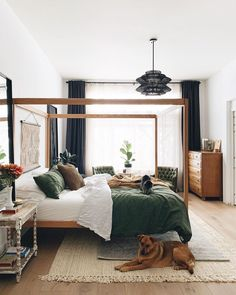 A canopy bed is just what a bedroom needs to stand out and to look spectacular. Canopy beds have been around for centuries and their role was initially Dream Bedroom, Home Bedroom, Modern Bedroom, Bedroom Decor, Bedrooms, Bedroom Ideas, Master Bedroom, Earth Tone Bedroom, Earthy Bedroom