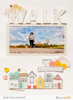 walk layout by Rory Vaillancourt using the Scraptastic Club Skinny Love kit and Sept TLN stamps