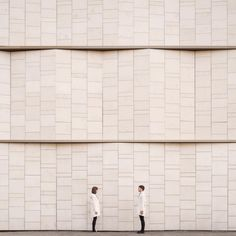 Together, they take symmetrical photographs that will remind you of your favorite Wes Anderson movies.