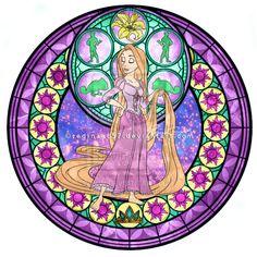 Princess Rapunzel - Kingdom Hearts Stain Glass