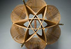 basket sculpture by Shono Shounsai 1904-1974. Masters of Bamboo: Japanese baskets and sculpture in the Cotsen Collection