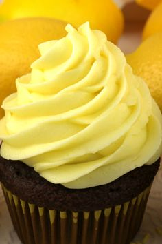 When life gives you lemons, make this delicious Best Lemon Buttercream Frosting. Bright, fresh, creamy and lemony. This is a traditional homemade lemon butter cream frosting that everyone will love. And it is so easy to make. This tasty frosting will make anything you put it on taste better! Follow us for more great Frosting Recipes! #Lemons #LemonFrosting #ButtercreamFrosting #BestFrosting #BestButtercreamFrosting #Buttercream #Frosting