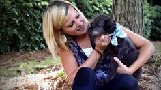 """Nicole Elliott, 24, agreed to foster Chester in late June after seeing a """"hospice needed"""" post on an animal shelter's Facebook page. Chester is terminally ill."""