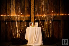 altar idea (trees and candles, not table)