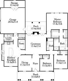 Greek revival home on pinterest greek revival for One story greek revival house plans