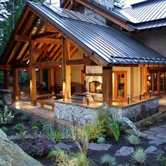 Ravens Wood Whistler BC - traditional - patio - other metro - Nigel Walker and Associates Inc. half wall