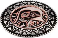 Western Belt Buckles for Men in Native American Raven design
