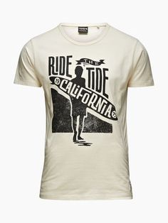 Ride the Tide New T Shirt Design, Tee Design, Shirt Designs, Custom T Shirt Printing, Printed Tees, Hang Ten, Cool Shirts, Tee Shirts, Apparel Design