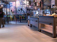 Bodenfliesen für Gewerbebereiche | Feinsteinzeug im Objektbereich | Topgres Referenzen: Rewe Hamburg Mall, Design, Department Store, Flooring Tiles, Hamburg, Template