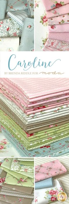 Caroline is a sweet floral collection by Brenda Riddle for Moda Fabrics available at Shabby Fabrics.