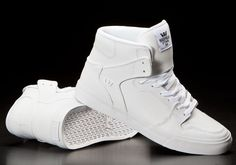 Supra Vaider White Tumbled Leather/White