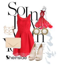 """""""Sheinside Dress"""" by omerovic-sumea ❤ liked on Polyvore featuring Nly Shoes, Accessorize, Alexis Bittar and Kendra Scott"""