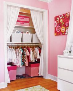 perfect for kids closet-love all the storage bins!