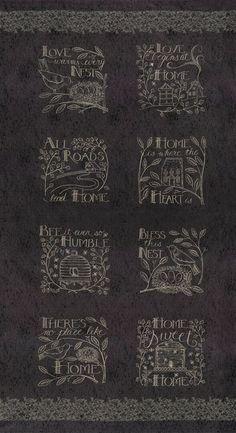 "Moda FABRIC Panel ~ WELL SAID ~ by Sandy Gervais 17960 12 Peacock  24/"" X 45/"""