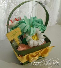 Angela Lorenz: The Crazy Crafters January Blog Hop - Occasions & Saleabration Theme. Berry Basket Die, Build A Bouquet Stamp Set, Bouquet Bigz Die, Spiral Flower Die #stampinup