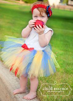 Baby Girls Halloween Costume Tutu set with headband, Birthday Disney princess dress up, sizes 0,3,6,9,12,18,24 months -SNOW WHITE. $29.95, via Etsy.