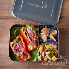 No bread, no problem! Work lunch in the LunchBots Bento Trio
