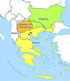 Map of Macedonia. Macedonia, officially the Republic of Macedonia, is a country located in the central Balkan peninsula in Southeast Europe. It is one of the successor states of the former Yugoslavia, from which it declared independence in 1991. (V)