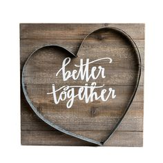 Better Together Metal And Wood Plank Wall Art Brown - Patton Wall Decor : Target