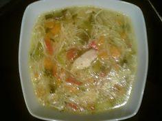 Elpida's Little Corner!: Πολύχρωμη κοτόσουπα!!!!! Vegetarian Soup, Cheeseburger Chowder, Healthy Recipes, Healthy Meals, Guacamole, Cabbage, Homemade, Chicken, Vegetables