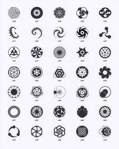 Crop Circle serie grabado vidrio posavasos Set de 4  usted