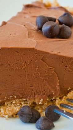 No-Bake Chocolate Cheesecake Pie ~ a quick and delicious dessert