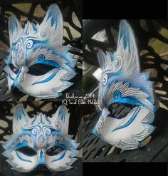 The Frosted Howling - Leather Wolf Mask by Draikairion.deviantart.com on @deviantART