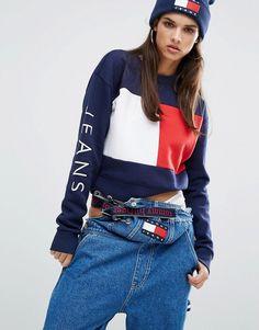 Tommy Jeans Crop Flag Sweatshirt