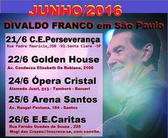 Divaldo Franco em São Paulo - Junho 2016 - http://www.agendaespiritabrasil.com.br/2016/06/21/divaldo-franco-em-sao-paulo-junho-2016/