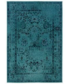 Great deep aged turquoise color on an over-dyed area rug.