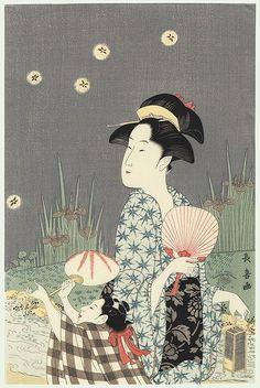"collectorandco: "" catching fireflies / choki / active circa 1785 - 1805 """