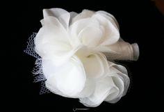 Love Poem Flower Comb by Naugi - Bridal silk flowers, silk blossoms, bridal hair flowers, bridal hair accessories, bridal combs